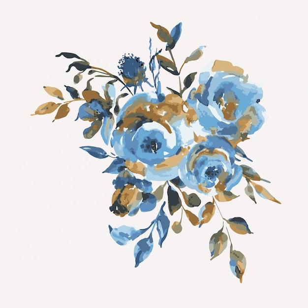 Streszczenie turkusowe róże, kwiaty, vintage kartkę z życzeniami. naturalne niebieskie kwiatowe elementy