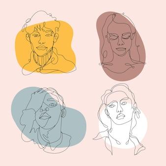 Streszczenie twarze ludzi