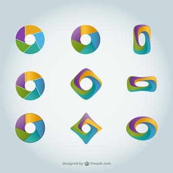Streszczenie vector logo okrągłe