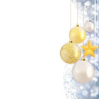 Streszczenie wakacje nowy rok i wesołych świąt tło wektor ilustracja eps10