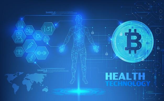 Streszczenie web banner technologii zdrowia