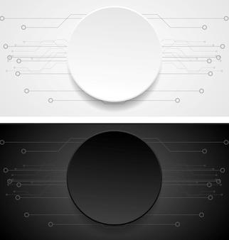 Streszczenie wektor banery. ilustracja rysunku technicznego. projekt papieru