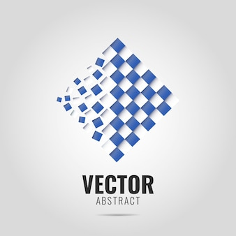 Streszczenie wektor geometryczne logo.