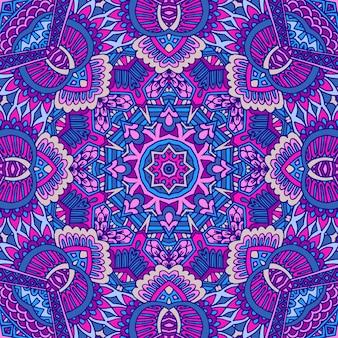 Streszczenie wektor geometryczny kafelkowy boho etniczny wzór ozdobny