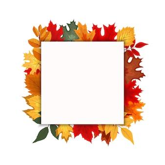 Streszczenie wektor ilustracja jesień tło z opadającymi jesiennymi liśćmi
