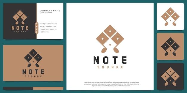 Streszczenie wektor logo notatki z klasycznym nowoczesnym stylem