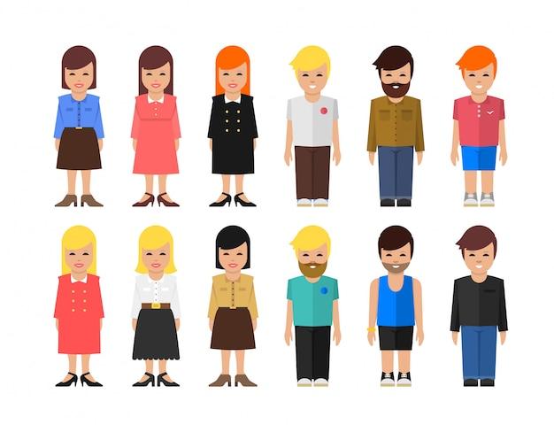 Streszczenie wektor ludzie ilustracja. czysta i prosta płaska konstrukcja