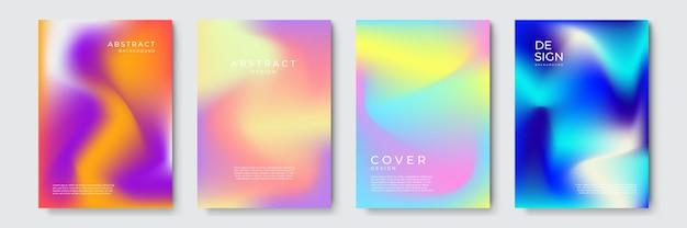 Streszczenie wektor obejmuje szablon projektu. geometryczne tło gradientowe. tło do prezentacji dekoracji, broszury, katalogu, plakatu, książki, czasopisma