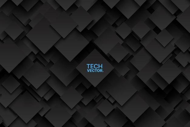 Streszczenie wektor technologia ciemne tło