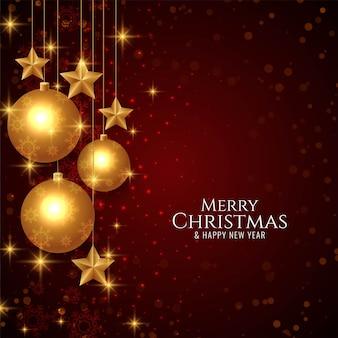 Streszczenie wesołych świąt pozdrowienia tło złote gwiazdy