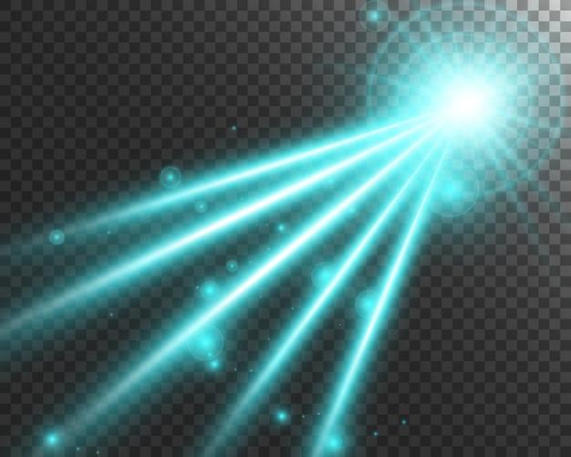 Streszczenie wiązki lasera. przezroczysty na czarnym tle. ilustracja.