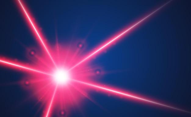 Streszczenie wiązki lasera.