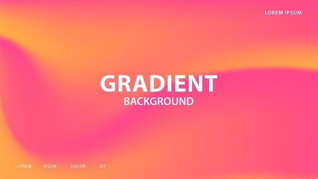 Streszczenie wibrujące tło gradientowe w rad i pomarańczowych tonach. do graficznego projektowania kolorowego, szablon projektu układu broszury.