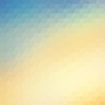 Streszczenie wielokątne tło w odcieniach niebieskich i żółtych