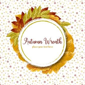 Streszczenie wieniec kwiatowy z jesiennych liści