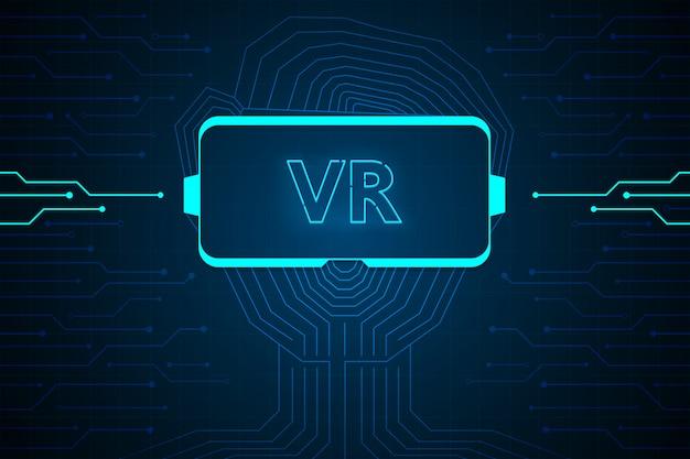 Streszczenie wirtualnej rzeczywistości technologia interfejs przyszłości projekt hud dla biznesu.