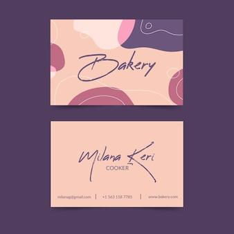 Streszczenie wizytówki szablon z pastelowych kolorowych plam