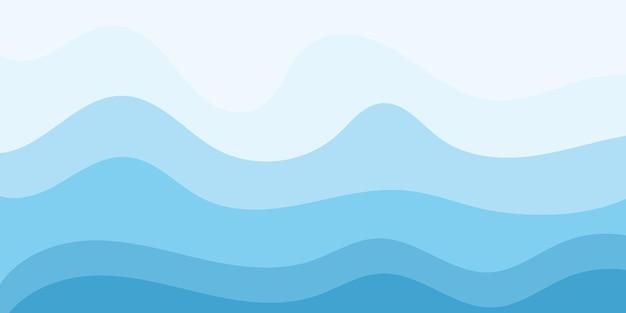 Streszczenie woda fala wektor ilustracja wzór tła
