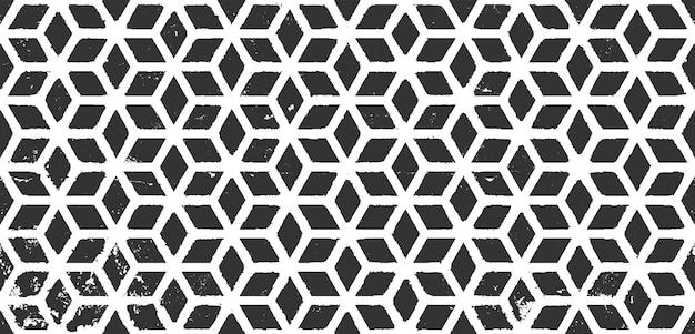 Streszczenie wzór w stylu grunge. retro arabski czarny szablon na ciemnym tle. powtarzając teksturę wektora geometrycznego. monochromatyczne tło. plemienna tapeta etniczna. dekoracja ścienna boho.