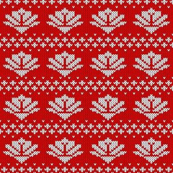 Streszczenie wzór z dzianiny. dzianinowa tekstura na nowy rok, papier pakowy wesołych świąt.