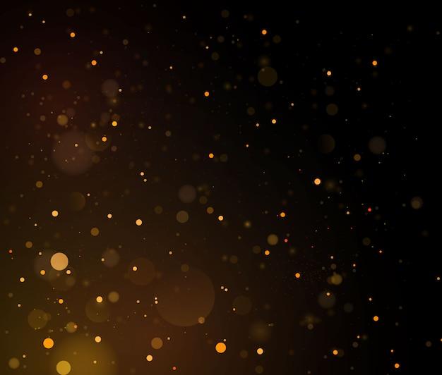 Streszczenie z efektem złota bokeh.