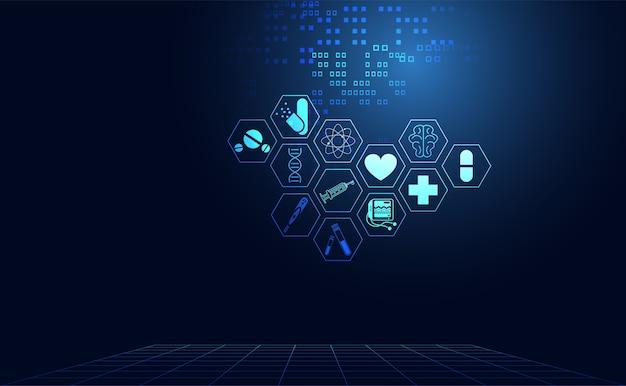 Streszczenie zdrowia medycyny nauki opieki zdrowotnej ikona