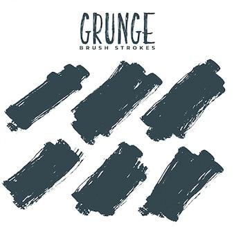 Streszczenie zestaw brudnych pociągnięć farbą grunge