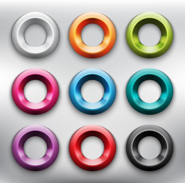 Streszczenie zestaw przycisków internetowych 9. plastikowe przyciski internetowych. odosobniony