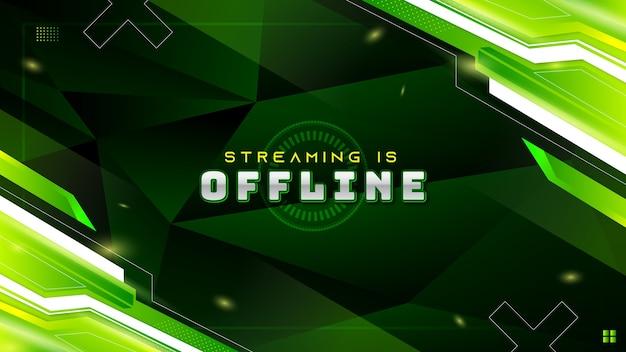 Streszczenie zielone nowoczesne tło do gier dla offline twitch stream