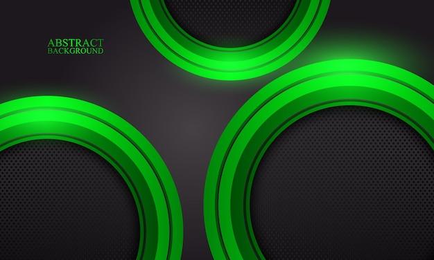 Streszczenie zielone tło technologii.