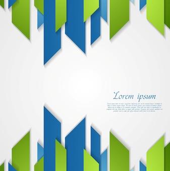 Streszczenie zielony niebieski tech abstrakcyjne kształty projektu. tło wektor