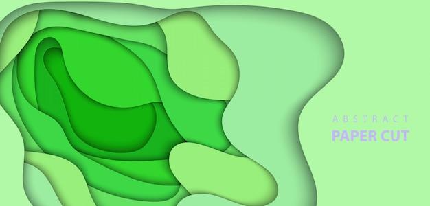 Streszczenie zielony papier wyciąć tło