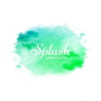 Streszczenie zielony splash akwarela