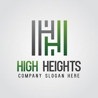 Streszczenie zielonym litera h logo