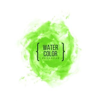 Streszczenie zielonym tle akwarela