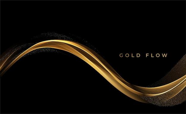 Streszczenie złote fale
