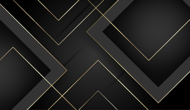 Streszczenie złote i czarne luksusowe tło