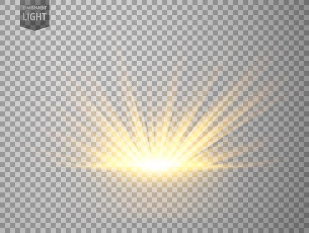 Streszczenie złote promienie wschodzące