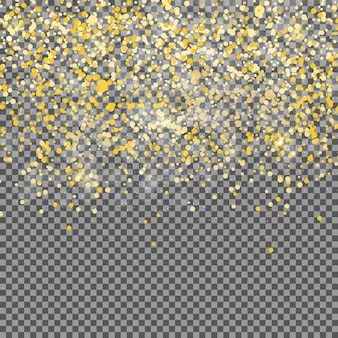Streszczenie złote przezroczyste tło. realistyczne wektor ilustr