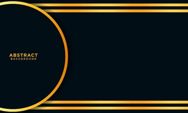 Streszczenie złote tło z kręgu i ciemny niebieski nakładających się