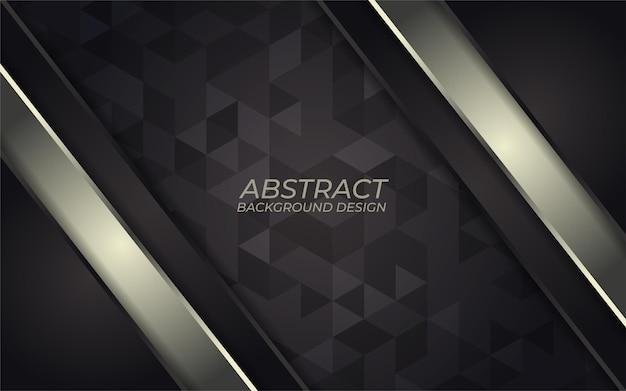 Streszczenie złoty metaliczny linia na ciemnym tle. luksusowy projekt kierunku nakładania się. futurystyczny nowoczesny ciemnoszary tło.