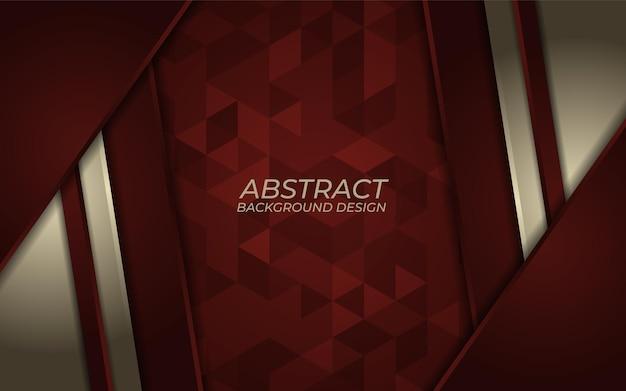 Streszczenie złoty metaliczny linia na czerwonym tle. luksusowy projekt kierunku nakładania się. futurystyczne nowoczesne czerwone tło.