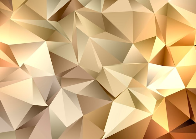 Streszczenie złoty wzór geometryczny low poly