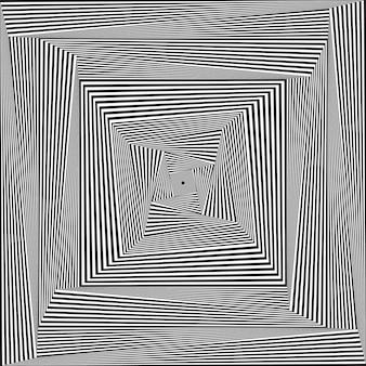 Streszczenie złudzenie optyczne. tło spirala hipnozy