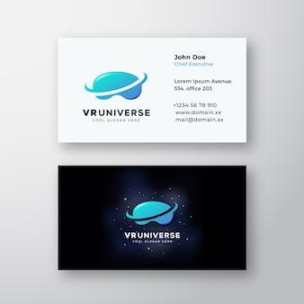 Streszczenie znak wirtualnej rzeczywistości wszechświata lub logo