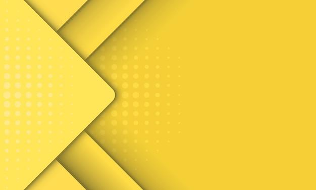 Streszczenie żółte tło w paski i prostokąt, projekt plakatu.