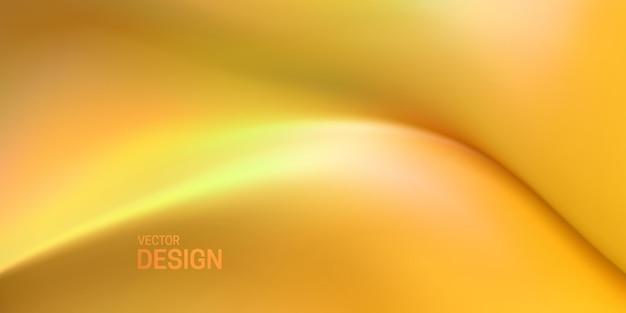 Streszczenie żółte tło z miękkim elastycznym kształtem