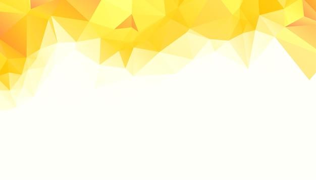 Streszczenie żółty trójkąt low poly tło
