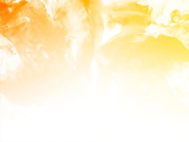 Streszczenie żółtym tle akwarela