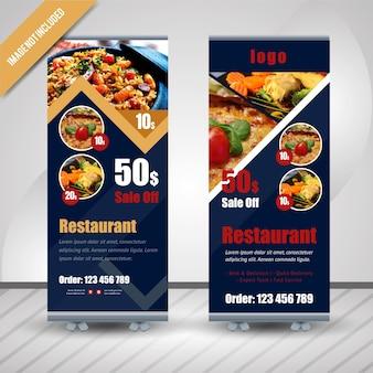 Streszczenie żywności roll up dla restauracji